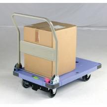 Silentmaster Plastic Platform Truck with push button brake L x W                                    900 x 600mm. Capacity 300kg